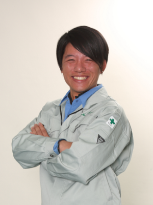 金沢営業所 工事部 工事主任 渡部 亮太(2017年入社)